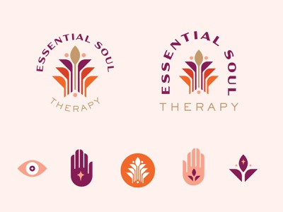 Rebrand | Essential Soul Therapy brand identity color brand tree of life tree leaves leaf hands massage reiki redesign icon logo rebrand branding