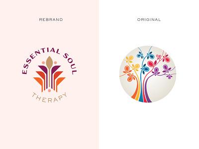 Rebrand | Before & After geometric reiki massage tree of life redesigned icon logo rebranding redesign rebrand