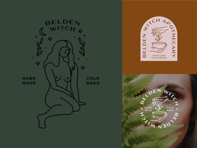 Belden Witch Logo Concepts hands lines logo vector illustration witch badge design apothecary woman branding