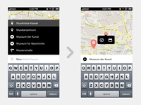 Transportation App – Type in your destination