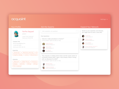 Acquaint Web App