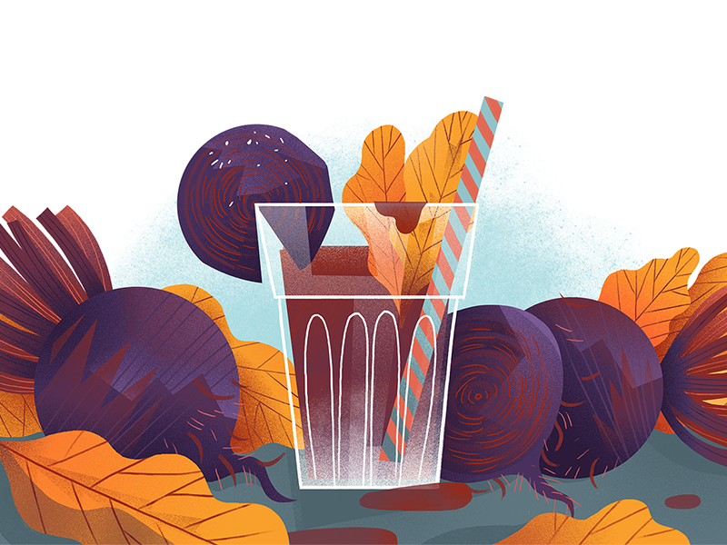 Beet Juice dudzik iza dewizka juice beet illustration