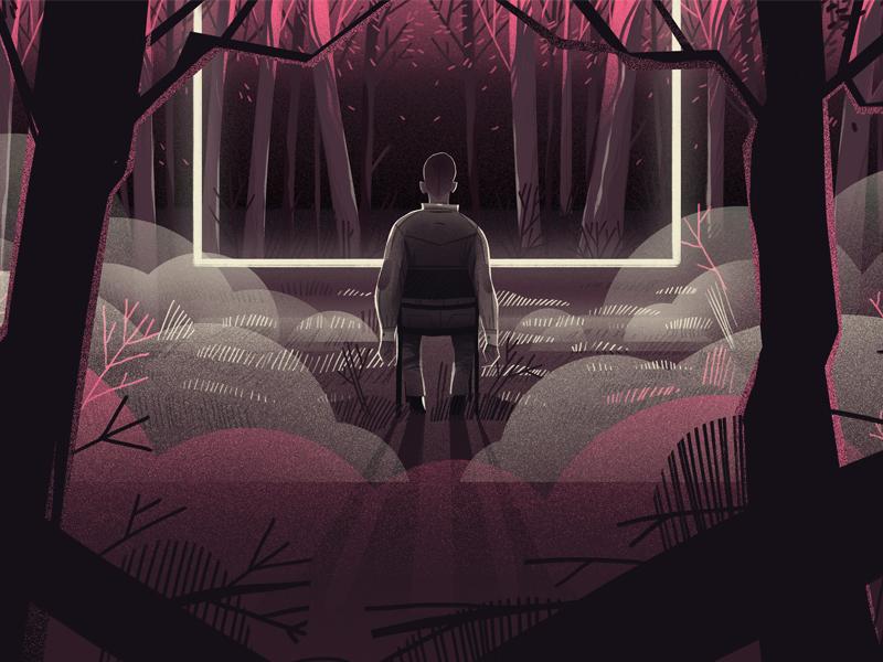 Seance dudzik iza dewizka seance cinema illustration