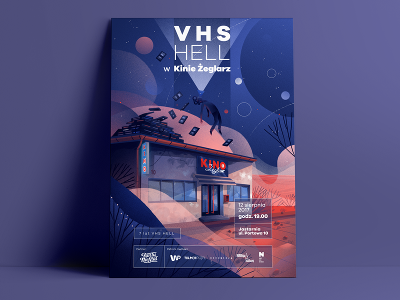 Poster VHS HELL dewizka dudzik poster illustration