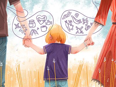 Child dudzik iza dewizka child illustration