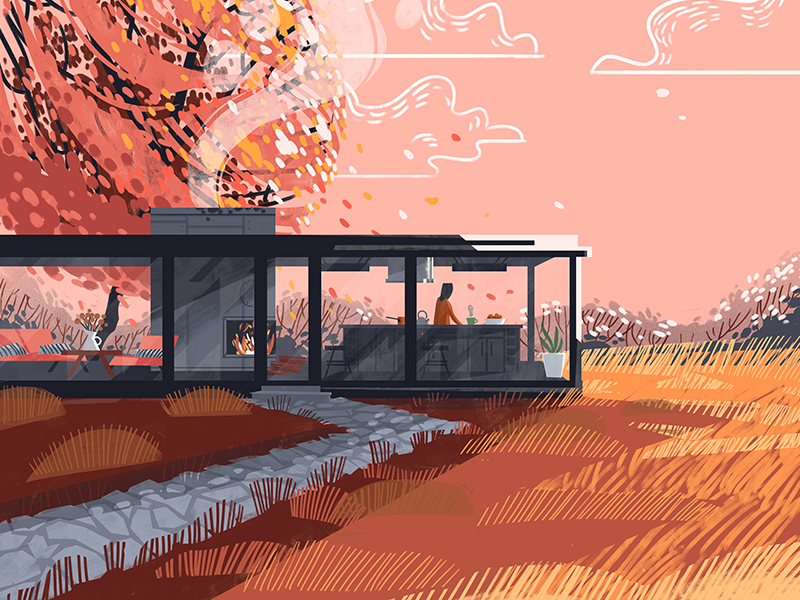 Fall Illustration dudzik iza dewizka fall illustration