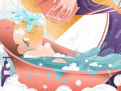 Bathwater dudzik iza dewizka child illustration