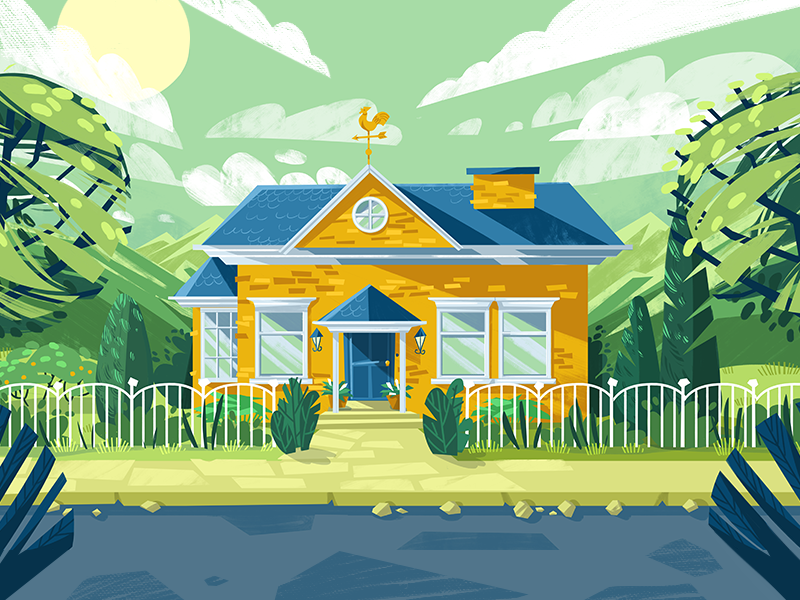 House dudzik iza dewizka house illustration
