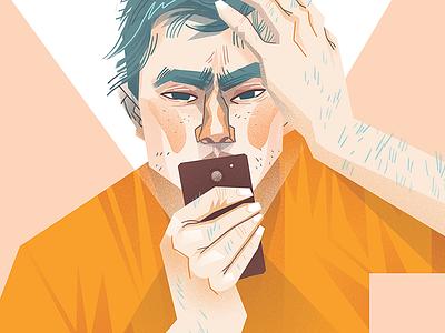 Phone portrait dudzik iza dewizka phone illustration