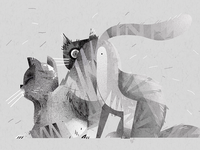 My cats | illustration webside