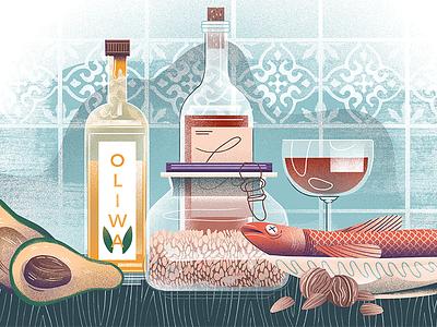 Superfoods illustration polish food dudzik iza