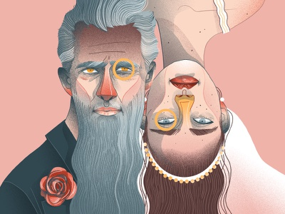 Couple dudzik iza dewizka illustration