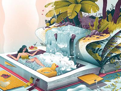 Summer relax illustration reading dudzik iza