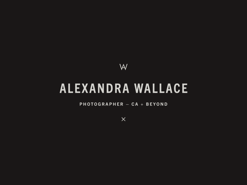 Alexandra Wallace – Brand Refresh brand identity wordmark weddings typography type photographer logo photographer monogram logo design logo letters identity fashion editorial central coast california branding brand design brand