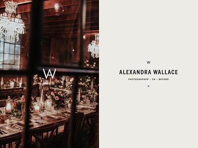 Alexandra Wallace – Wordmark logotype identity bold typemark san luis obispo california logo design logo monogram wordmark editorial fashion wedding photographer logo photographer brand identity type typography branding
