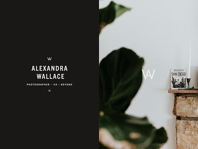 Stacked Wordmark – Alexandra Wallace logo design modern editorial minimal monogram fashion weddings california photographer logo photography brand identity identity logo type typography branding