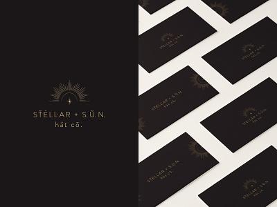 STELLAR + S. U. N. wordmark illustration stellar stars modern logo modern design sun hat type collateral design business cards brand strategy brand design brand studio california typography identity logo branding