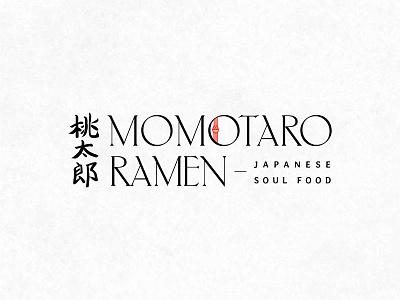 Primary Logo – Momotaro Ramen japanese art wordmark logo logo design brand design logo california handdrawn typography type wordmark ramen japanese food restaurant branding brand identity branding calligraphy kanji japanese culture japanese