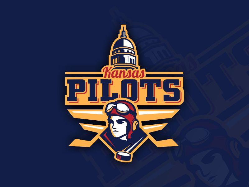 Kansas Pilots soccer baseball football basketball bombers esports team sport hockey logo pilots kansas