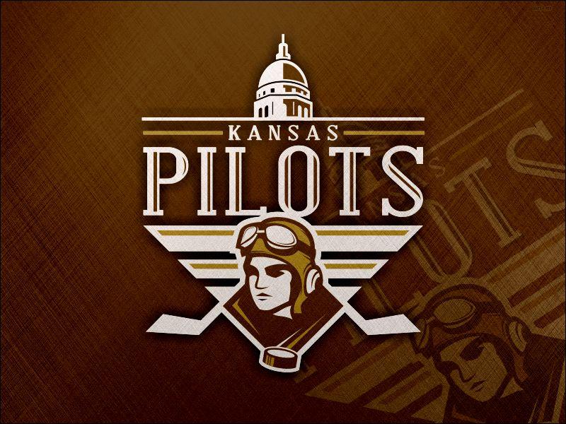 Kansas Pilots Logo earhart amelia football basketball bombers esports team sport hockey logo pilots kansas