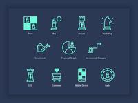 Digital Start Up Icons