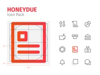 Honeydue Icon Pack finance money identity mark iconography icon pack icon set system icon label device button app art icon