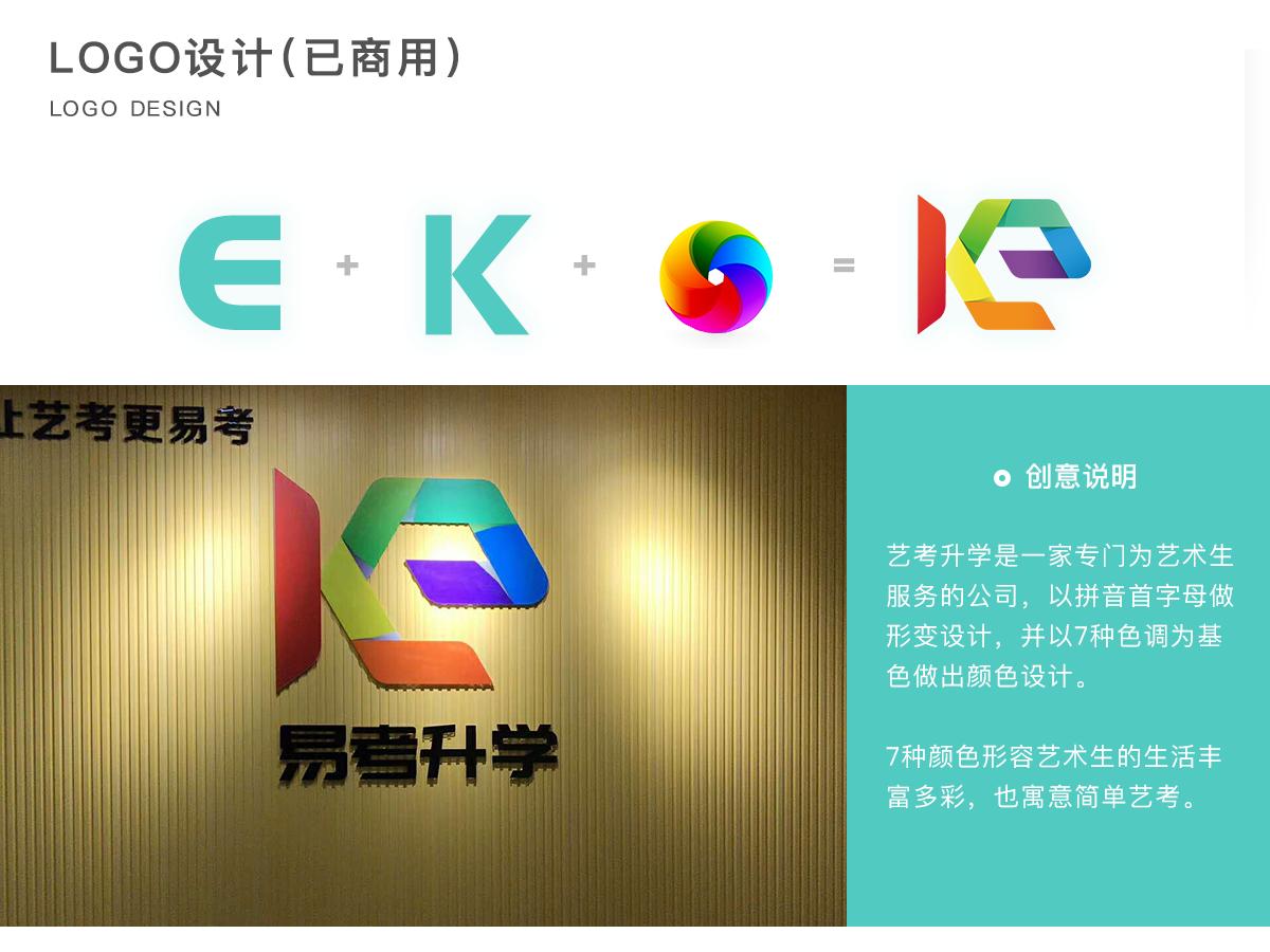 logo-艺考升学logo设计 品牌 活版印刷 商标 图标 ui 设计