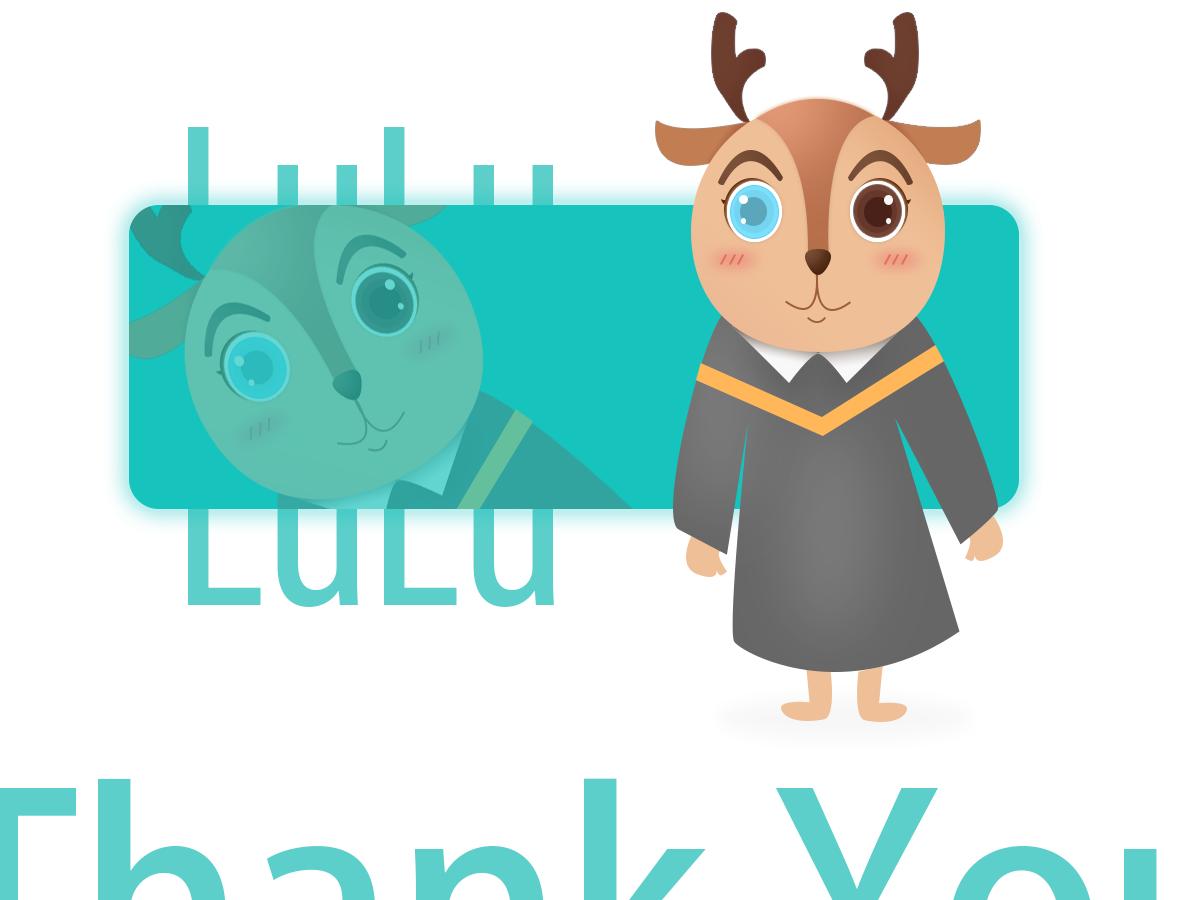 mascot-lulu 插图 品牌 ui 图标 设计