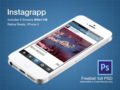 Instagrapp - Freebie PSD