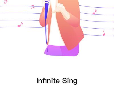 Sing App Onboarding Screens walkthrough ux ui screen pagination onboarding mobile music colour sing app