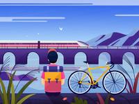 Cycling scenery