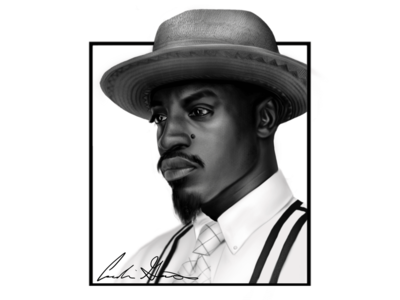 Andre 3000 Digital Painting
