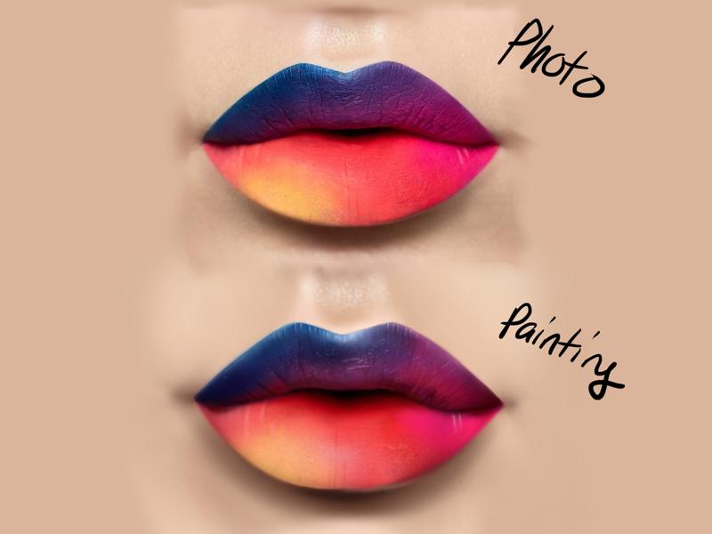 Quick Lip Study - Digital Painting art sketch drawing lips drawing digital painting digital art
