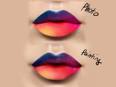 Quick Lip Study - Digital Painting