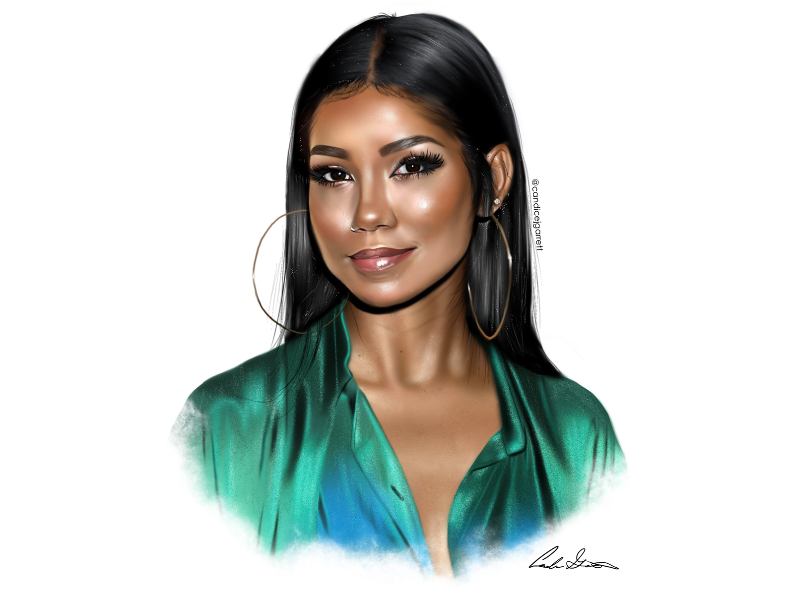 Jhene Aiko Digital Painting By Candice J Garrett On Dribbble