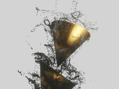 It's Alive animation abstract floating gravity gold branding modeling blender3d render design
