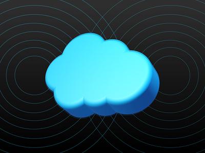Salesforce Meets 3D 3d logo rendering render ui branding design
