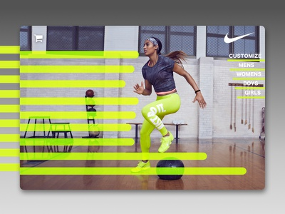 Nike Landing Page justdoit web-design branding ui nike