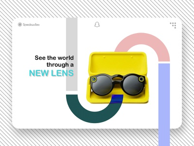 Spectacle snap color simple web design ui snapchat