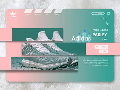 Adidas Parley drop design ui shoes parley adidas