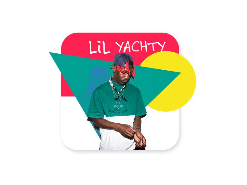 Lil Boat App Concept color bold design app yachty