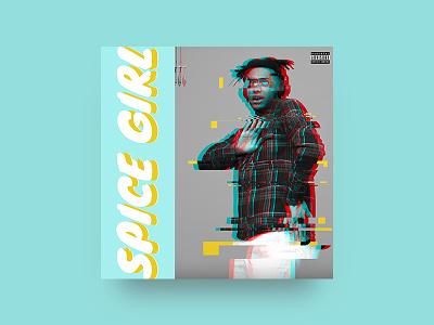 Turn Up the Heat glitch design artist music album cover