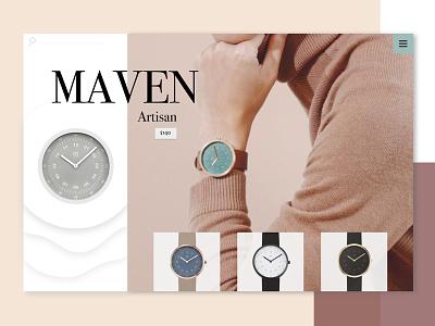 Maven Collection minimal design web branding watch