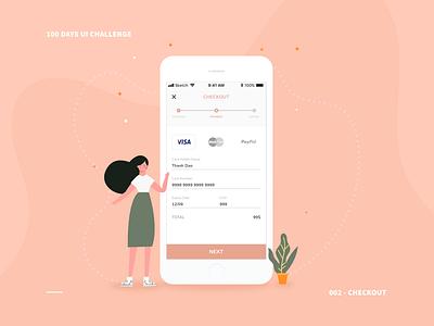 002 - Checkout illustration app design ui