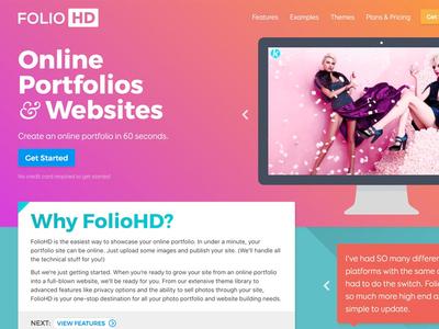 Refreshing the FolioHD website