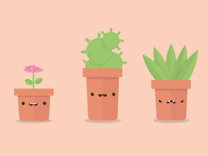 Happy Plants design vector illustration