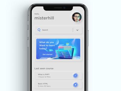Simple Neumorphic Mobile UI