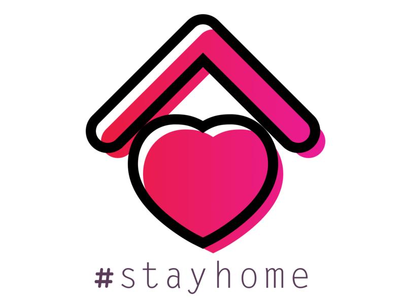 #STAYHOME Icon stayathome stayhome icon logo