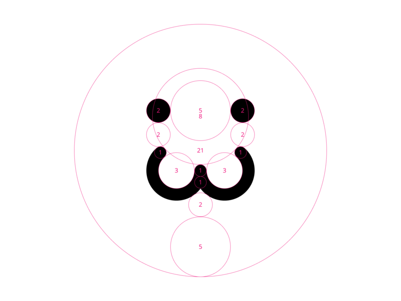 My icon golden ratio fibonacci illustraion design icon