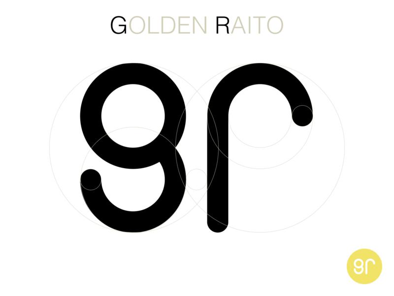 GOLDEN RAITO design icon logo fibonacci golden ratio